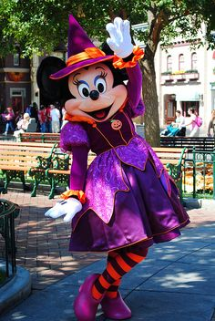 Minnie's Halloween costume (changes each year)...I need to go during Halloween!