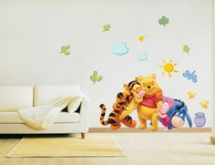 Winnie the pooh baby room wall sticker