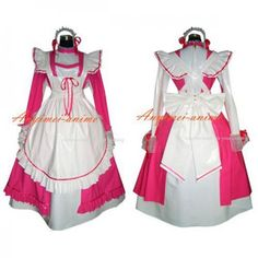 Fond Cosplay : PVC - O Dress Gothic Clothing School Uniforms Lolita Clothing Medieval Gown Venice Carnival Movie Costumes Cosplay Wig Cosplay Shoes Anime Costumes Game Costumes Other Costumes Cosplay Accessories Sissy Maid Uniform New Arrival Pvc Corset, Pink White, Hot Pink, Sissy Maid, Sissy Boy, Vinyl Clothing, Maid Uniform, Maid Dress, Cosplay Costumes
