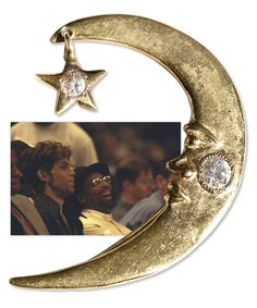 Moon and star ear wrap worn by Prince to the 1998 NBA All-Star game that he attended with Spike L