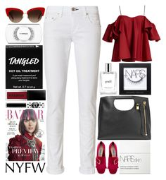 """""""NYFW: Ruffles / 171"""" by dddawn ❤ liked on Polyvore featuring Tom Ford, Anna October, rag & bone, Dolce&Gabbana, Prada, philosophy, MAC Cosmetics, NARS Cosmetics, Smashbox and Lime Crime"""