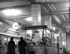 Intershop kiosk on U-Bahn platform at Friedrichstraße West Berlin, Berlin Wall, Bahn Berlin, S Bahn, Public, East Germany, Life Pictures, Kiosk, Cold War