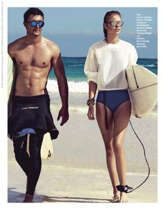 75b0be1b85 kit kite  tereza smejkalova by mikael schulz for grazia france 18th july  2014 Beach Editorial