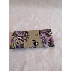 Nightshade Floral and Potion Bottles Purple and Green Fashion Bifold... ($45) ❤ liked on Polyvore featuring bags and wallets