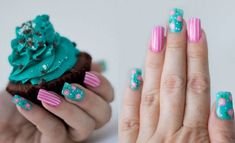 18 Manicures That Will Make Your Jaw Drop Rose Nail Art, Heart Nail Art, Rose Nails, Heart Nails, Nail Art Designs Images, Nail Designs, Silver Nail Art, Different Nail Shapes, Nail Art Pictures