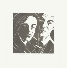 Alex Katz: Ada and Alex, 1986 Woodcut