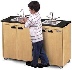 2station lil delux handwashing portable sink ssteel