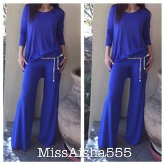 Gorgeous fold waist wide leg pants Chic stylish soft fabric incredible fit beautiful color wide leg fold waist pants PLEASE comment on the size you want and allow me to make you a personalized listing ( when your ready to purchase) BUNDLE AND SAVE 10% Pants Wide Leg