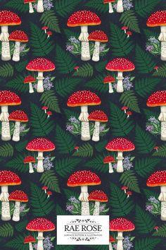 Now available on Patternbank ♥️ #artlicensing #bohemiandecor #bohodecor #idesignpatterns #illustration #interiordesign #maximalistinteriors #pattern #patternbank #patternbankdesigner #patterndesign #patterndesigner #patterndesignersclub #patternlover #patternmaking #patternobserver #patternoftheday #printandpattern #repeatpattern #surfacedesign #surfacepatterncommunity #surfacepatterndesign #textiledesign #vintagedecor #vintagehome #vintageinteriors #flyagaricart #mushroomart #folklore Mushroom Crafts, Mushroom Art, Wild Mushrooms, Stuffed Mushrooms, Pattern Bank, Blue Magic, Boho Room, Vintage Interiors, Cute Backgrounds