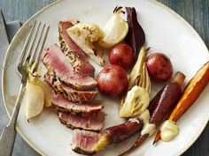 Herbed Tuna Steaks from #FNMag #myplate #protein
