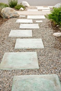 Colored Concrete Stepping Stones.