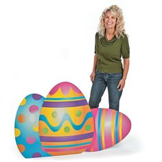 Mixed Print Easter Egg Stand-Up - OrientalTrading.com