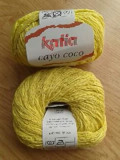 Ravelry: Katia Cayo Coco |  87% Cotton, 13% Hemp | super bulky |  50 grams (1.76 ounces) Gauge 10.0 sts = 4 inches Needle size US 10 - 11 or 6 - 8mm