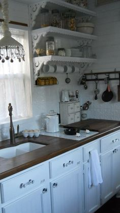 Kitchen inside the Shabby Chic Tiny Retreat