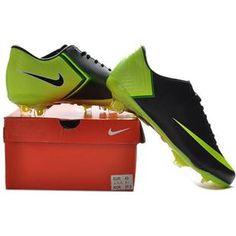 http://www.asneakers4u.com Nike Mercurial Vapor X FG Cleats   Black Fluorescent Green New Soccer Shoes May