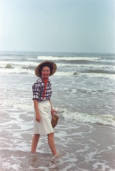 Lady Bird Johnson at the Padre Island National Seashore Dedication, 4/8/1968. LBJ Presidential Library photo C9474-30a; image is in the public domain.