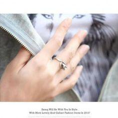 $0.66 Korean Retro Style Mouse Pattern Design Finger Ring