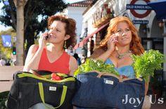 The Joy Us LadyBug Bags at The SB Farmer's Market.  Santa Barbara, CA
