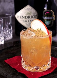 Fall All Over Cocktail from Hendrick's Gin with Apple Cider, Lemon Juice and Ginger Beer