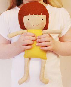 Doll Sewing Pattern Toy Cloth Doll Pattern PDF Saffron by ElfPop