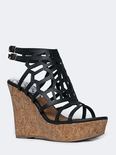 CORK WEDGE SANDAL