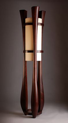 Chronos by Kyle Dallman: Wood Floor Lamp $4,250  available at www.artfulhome.com