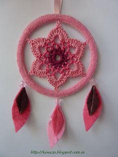 ATRAPA SUEÑOS PATRONE - Bing Imágenes Crochet Home, Love Crochet, Diy Crochet, Irish Crochet, Applique Stitches, Basic Crochet Stitches, Thread Crochet, Crochet Butterfly, Crochet Flowers