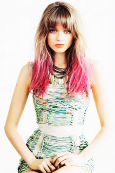 Pink hair. Awesome cut!