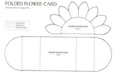 1 of 2 pins.... Daisy Flower Card TEMPLATE from Jeannie.... see 2nd pin for how the card looks