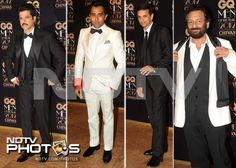 GQ Men Awards: Mr India Anil Kapoor, dishy Rahul Khanna, cricketer Rahul Dravid and Shekhar Kapur.