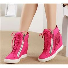 $ 110.99 2013 New Arrival Rose Genuine Leather Wedge Heel Boots