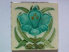 Art Nouveau Tile by Corn, c1905