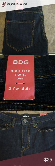 BDG High Rise Twig 27 x 33 Dark wash BDG High Rise Twig Skinny Jeans. BDG Jeans Skinny