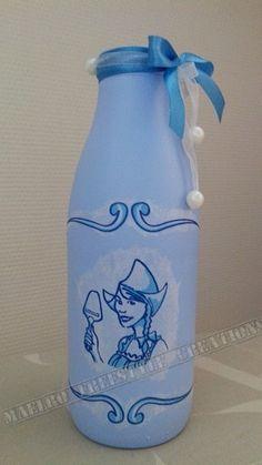 Melkfles blauw Holland