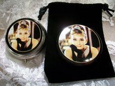 Pocket Mirror and Pill Box Gift Set FREE SHIPPING by Piaraciccone, $20.00