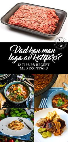 12 goda tips till middagen! Swedish Recipes, New Recipes, Crockpot, Bacon, Clean Eating, Beans, Lunch, God Mat, Tips