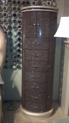 Jordan's furniture bling lingerie chest w/jewelry storage picture doesn't do it justice