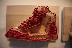 shoe  matchstick art
