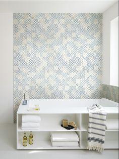 Stoneware mosaic BESIDE by Ceramiche Refin | #Design Massimiliano Adami #mosaic #bathroom #white