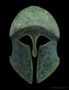 Warrior Helmet, Helmet Armor, Spartan Warrior, Suit Of Armor, Medieval Helmets, Medieval Armor, Greek History, Ancient History, Ancient Rome