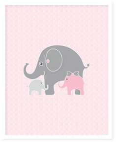 8X10 Pink and gray nursery art  childrens by walstonprints on Etsy, $14.00