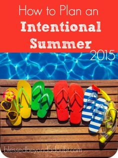 Make this summer the best by having an intentional summer. Use these family printables to help plan summer activities.