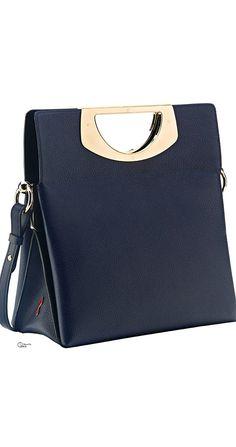 Christian Louboutin ~ Fall Black Leather Handbag w Gold Details