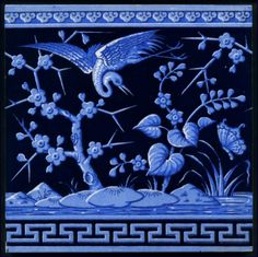 Minton Landscape Tile c. 1878