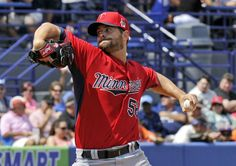 Mar 15, 2014; Port St. Lucie, FL, USA; Minnesota Twins starting pitcher Scott Diamond (58) delivers a pitch during a game against the New York Mets at Tradition Stadium. Mandatory Credit: Steve Mitchell-USA TODAY Sports