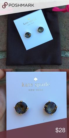 Kate Spade Black Studs New with tags Kate Spade Black Studs . NO TRADES. Reasonable offers considered through offer button only kate spade Jewelry Earrings