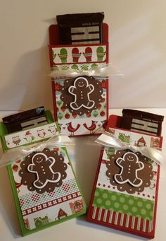 Hershey Bar Treat Holder Something different to put the grandkids' Christmas money in. Christmas Craft Fair, Christmas Paper Crafts, Stampin Up Christmas, Christmas Tag, Christmas Projects, Holiday Crafts, Homemade Gifts, Homemade Cards, Candy Crafts