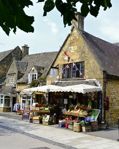A deli in the Cotswolds, England.