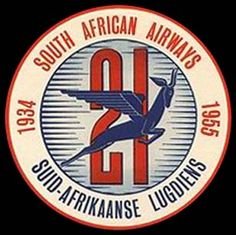 South African Airways - SAA South African Air Force, South African Design, Nostalgia, Label Image, Vintage Labels, Vintage Travel Posters, Illustration, Branding Design, Luggage Labels