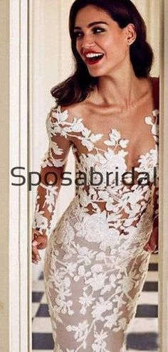 Mermaid Trumpet Lace Long Sleeves Country Long Wedding Dresses WD0552#weddingdresses #weddingdress #bridalgown #weding #bridaldress #laceweddingdress #fashion #Ballgown #Country #boho #Princess #modest Popular Wedding Dresses, Long Wedding Dresses, Long Bridesmaid Dresses, Bridal Dresses, Wedding Gowns, Formal Dresses, Lace Dress, White Dress, Wedding Dressses